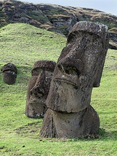 The Moai at Rapa Nui... I love these statues. Just remember kids, this could happen to us!