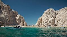 Riu Palace Cabo San Lucas: Lovers Beach from boat