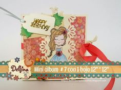 "MINI ALBUM # 7 CON UNA HOJA 12"" por 12"" - YouTube"