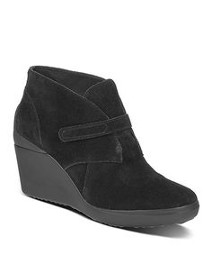 Another great find on #zulily! Black Wedge Decari Suede Ankle Boot by TSUBO #zulilyfinds