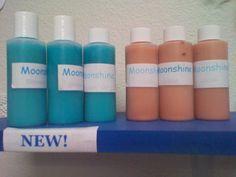 Moonshine shower gel and lotion