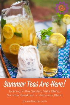 Summer will be here before you know it! Have you stocked up on iced tea yet? Our three signature summer teas as well as one new tea, Evening in the Garden, are here all season to pair with your slow summer moments, backyard parties, and to share with visiting guests.