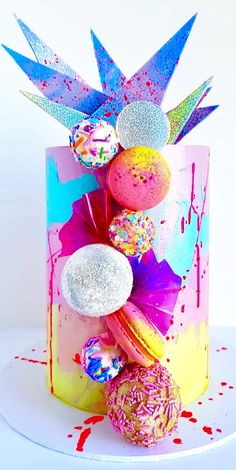 Sugar and salt cookies - Creative Cake Decorating Ideen Gorgeous Cakes, Pretty Cakes, Amazing Cakes, Candy Cakes, Cupcake Cakes, Kreative Desserts, Bolo Cake, Cool Cake Designs, Modern Cakes