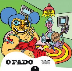 """2012 O Fado de José Malhoa 100 Anos 5 [Tugaland/A Bela e o Monstro] ilustração: Pedro Zamith """"Breve nota sobre O Fado de José Malhoa"""" #albumcover #illustration #fado #music"""