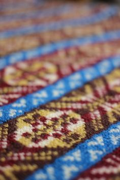 detail from the Fair Isle V-Necked Jumper kit, available here
