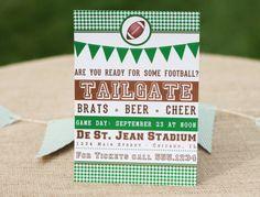 Football Tailgate Invitation Printable tons of free printables on