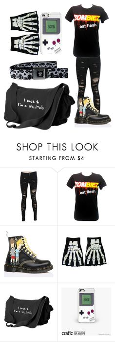 """""""Untitled #488"""" by briana-is-hungry ❤ liked on Polyvore featuring Goodie Two Sleeves and Dr. Martens"""