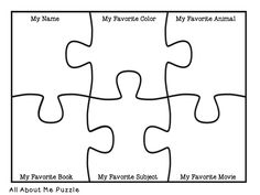 Free All About me Jigsaw puzzle in a few different formats!