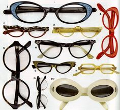 wonderful eyeglasses! i want to have them all! vintage <3
