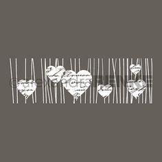 Motivstempel 'Herzen am Band mit Typo'