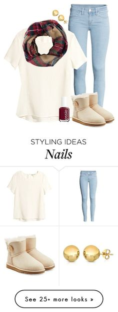 """Walking In A Winter Wonderland"" by classychic03 on Polyvore featuring H&M, Look by M, UGG Australia, Essie and Sevil Designs"
