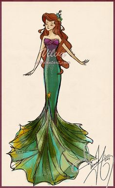"""I like this. Especially the transition of color to get the right Ariel look. I just need to make it more """"kiddy"""" for Teagan."""