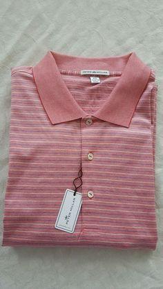 Peter Millar Collection Polo Shirt: 2XL (New With Tags) *red/white/blue Stripes* #PeterMillarFootjoyNikeUnderArmourPing #ShirtsTopsPoloGolfButtonFrontCasual