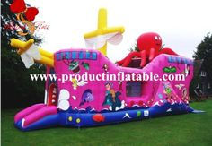 1400.00$  Buy now - http://ali2gr.worldwells.pw/go.php?t=2000678900 - Inflatable pirate Ship Bouncy Castle, Boat Bouncer Jumping, Pirate Boat Inflatable Bouncer