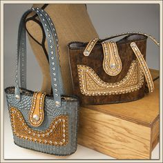 Western Styled Leather Tote Bags