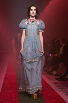 Alessandro Michele shows his latest in romantic whimsy.
