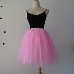 Tulle Skirts Womens 7 Layers High Quality Summer Womens Adult Tutu Skirt Faldas Saias Femininas Pleated Midi Skirts – dressiris.net