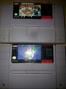 Super mario all stars / Super Mario World SNES Super Nintendo