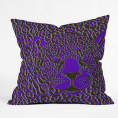 Aimee St Hill Leopard 1 Throw Pillow
