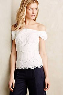Agnes Tiered Eyelet Top