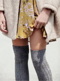 Free People Speckled Slouch Tall Sock, $24.00
