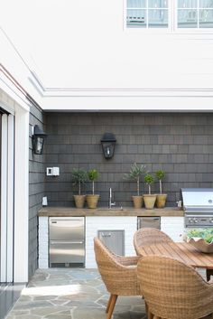Ways To Choose New Cooking Area Countertops When Kitchen Renovation – Outdoor Kitchen Designs Outdoor Rooms, Outdoor Dining, Outdoor Decor, Dining Area, Outdoor Ideas, Outdoor Grill Area, Rustic Outdoor, Outdoor Fire, Basic Kitchen