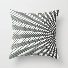 Low Peeks - Black & White Throw Pillow by Ornaart - $20.00