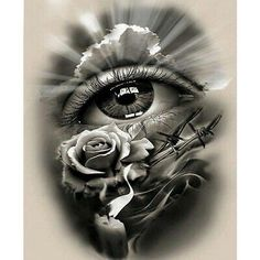 Tattoo Design, realistic eye with rose and candle. dessins de tatouage 2019 dessins de tatouage 2019 Tattoo Design, realistic eye with rose and candle. Skull Tattoos, Rose Tattoos, Leg Tattoos, Arm Tattoo, Body Art Tattoos, Sleeve Tattoos, Tattoo Ink, Tatoos, Tattoos For Women