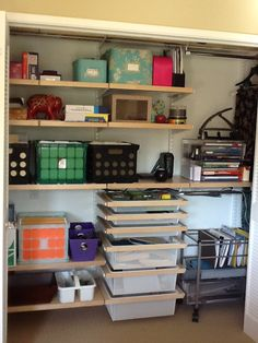 office closet storage. Closet Office Storage. Definitely Doing This. | {Home} Offices Pinterest Office, Storage And Organizations L