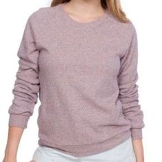 "American apparel herringbone unisex sweatshirt This is a sold out American apparel herringbone long sleeve super soft sweatshirt. Size medium. Made of 65% cotton 45% polyester. Oversized sweater length 25"". Great condition. American Apparel Sweaters Crew & Scoop Necks"