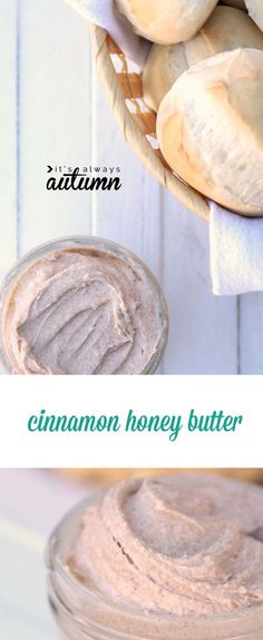 this cinnamon honey butter is so good and so easy to make! perfect on rolls, toast, even sweet potatoes!