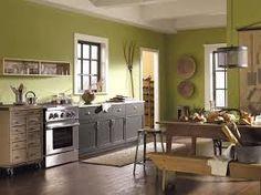 Sage Green Kitchen Cabinets Painted kitchen paint colors with cherry cabinets - lowes paint colors