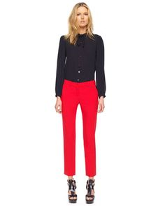 Michael Kors  Samantha Skinny Pants, Crimson.