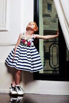 Junior Gaultier a Pitti Immagine Bimbo, la collezione spring summer 2015 Tween Fashion, Little Girl Fashion, Little Girl Dresses, Look Fashion, Girls Dresses, Little Fashionista, Tween Mode, Baby Girl Romper, Girls Rompers