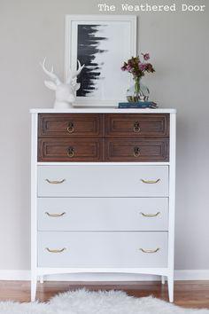 White Wood and Grey Modern Dresser WD-6
