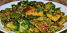 Seaweed Salad, Sprouts, Broccoli, Zucchini, Vegetarian, Vegetables, Ethnic Recipes, Food, Vegetarian Recipes