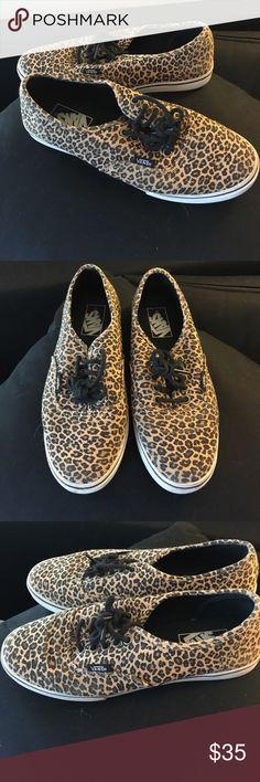 Leopard Print Vans excellent condition - worn only once. vans with leopard print design. Vans Shoes