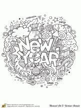 Coloriage Nouvel An et Bonne année sur Hugolescargot.com