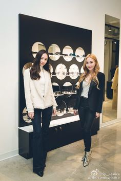Jessica Jung and Krystal attended BLANC & ECLARE's opening in New York