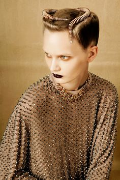 Artistically Relevant: BOLD & GOLD by Oskar Cecere for Vogue Italia