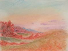 """""""Valley of Fire,"""" 9x12 in. Pastel on Paper. Sarah Szabo"""