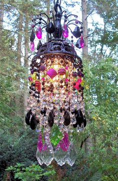 Jeweled Bohemian Princess Petite Crystal Chandelier..
