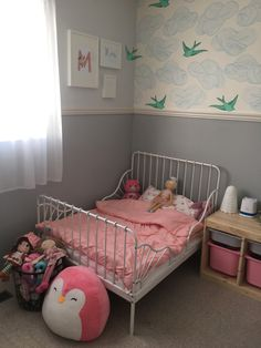 Toddler Girl Bedroom Makeover With IKEA Minnen Bed