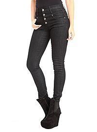 HOTTOPIC.COM - Judy Blue Black High-Waisted Skinny Jeans