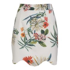Evelyn Floral Skirt found on Polyvore