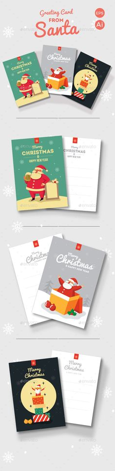 Greeting Card from Santa Template EPS, AI #design Download: http://graphicriver.net/item/greeting-card-from-santa/13288818?ref=ksioks