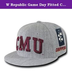 W Republic Game Day Fitted CMU, Heather Grey - Size 7.63. Features. Game Day Fitted Cap is a 6-panel. Material - 80 20 AcrylicWool Blend. High definition 3-D embroidery on the crown as well as the rear panels. Flat embroidery for each respective college. Represent Your School. The cap comes with a retro flat bill. Officially Licensed Imported. Printing Design - CMU. Color - Heather Grey. Size - 7.63. Item Weight - 0.35 lbs.