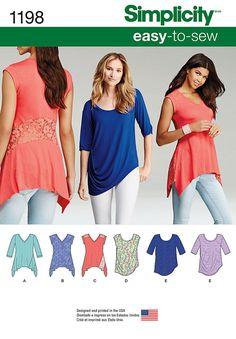 Simplicity Pattern 1198A Xxs-Xs-S-M-Tops Vest Jkts Co