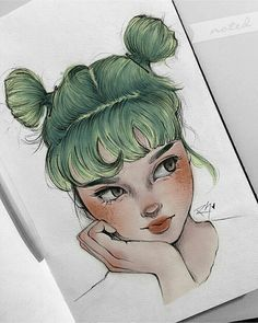 paint by – People Drawing Amazing Drawings, Beautiful Drawings, Art Drawings Sketches, Cute Drawings, Pencil Drawings, Arte Sketchbook, Marker Art, Aesthetic Art, Cute Art