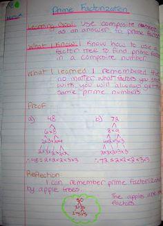 prime factors factor tree interactive math journal